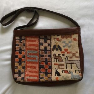 Handbags - Vintage Mosaic and Leather Purse