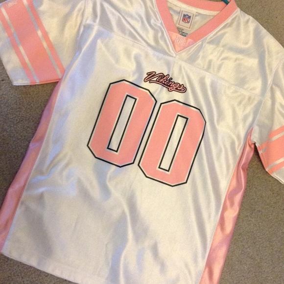 size 40 e2f04 62764 Pink and White Minnesota Vikings Jersey