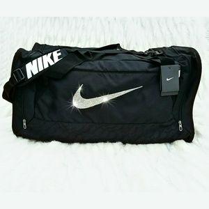 Swarovski Bling Nike Brasilia 6 Duffle Gym Bag