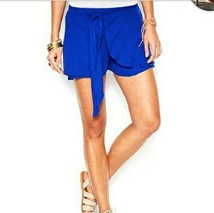 Free people cobalt blue sarong style shorts