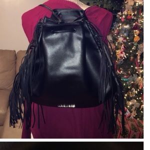 Victoria's Secret Handbags - BNWOT VICTORIA'S SECRET FRINGED BACKPACK $30