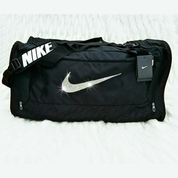 Swarovski Bling Nike Brasilia 6 Duffel Gym Bag 80c0e2197667