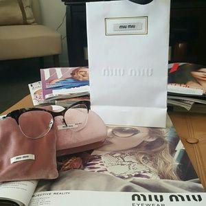 Miu Miu Accessories - New Miu Miu Eyeglass Frames