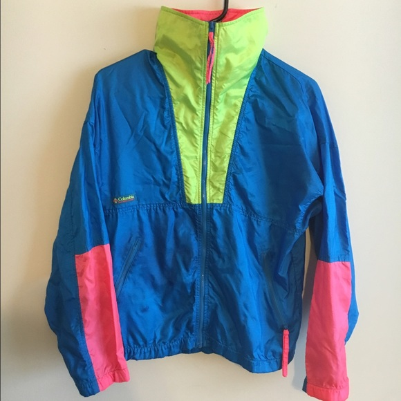 Columbia - 💫Vintage Columbia Neon windbreaker jacket. from ...