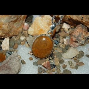 "2"" Faceted Jasper Statement Pendant"