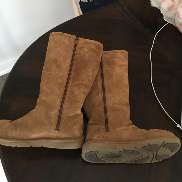2265400a204 UGG tall side zip boots