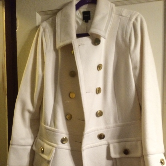 Express - Express winter white military style coat from Beth's ...