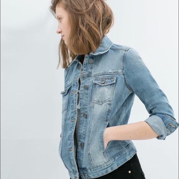 6db6d25d Zara Distressed Denim Jacket