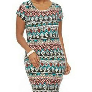 Ambiance Apparel Dresses & Skirts - Geometric Print Bodycon- Size 3X
