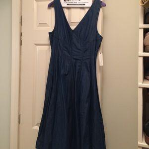 Brand new denim anthropologie dress!