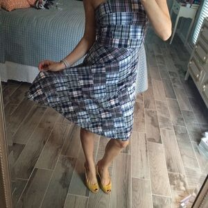 Dresses - Strapless madras dress