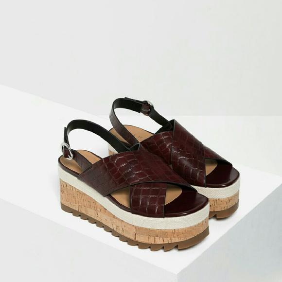 0dbf6cab86 Zara platform sandals. M_57893874c6c79510a3009870