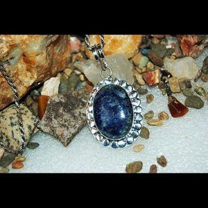"handmade & handcrafted gemstone jewelry Jewelry - 📌SALE📌Lapis Lazuli Statement Pendant 2"""