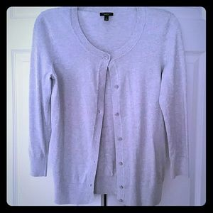 Talbots Small Silver Gray Cardigan