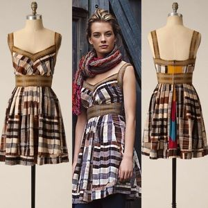 Anthropologie Crop Patterns Dress Tracy Reese