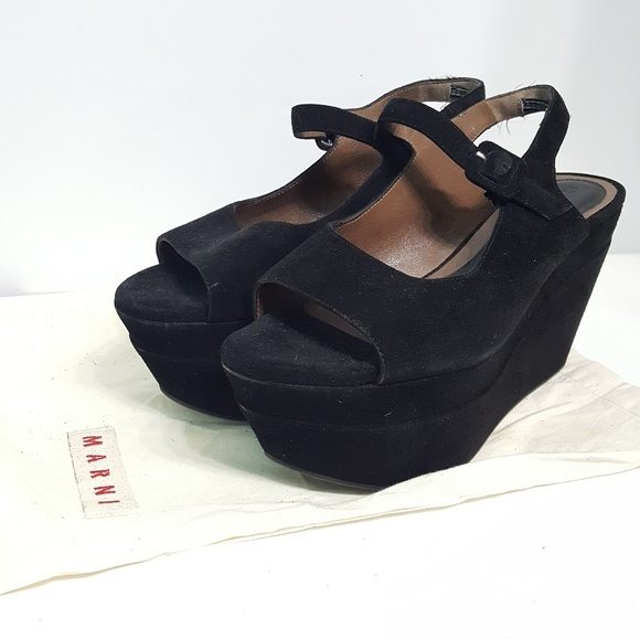 Marni Suede Mary Jane Wedges comfortable online visa payment online many kinds of cheap price big discount store cheap price JRGLd