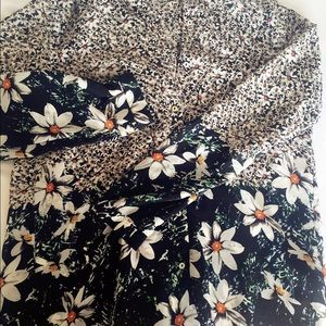 Zara floral button down shirt, size S