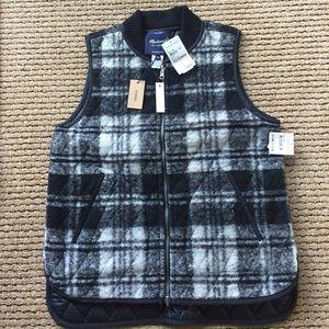 NWT Madewell Plaid Reversible Vest