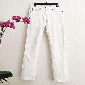 Pimkie Denim - 🎉HOST PICK🎉White Studded Straight leg Jean