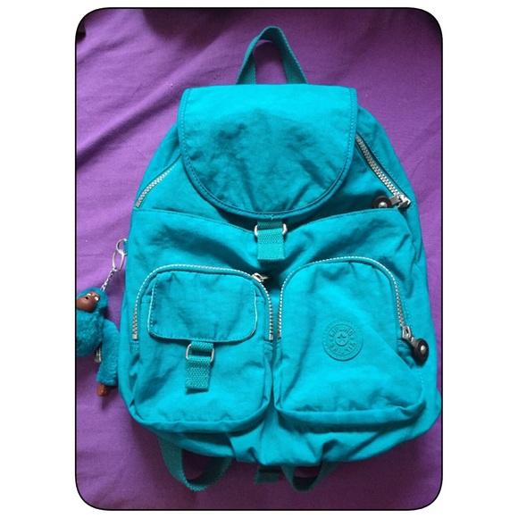 8a3835c153 Kipling Handbags - KIPLING MINI BACKPACK TURQUOISE