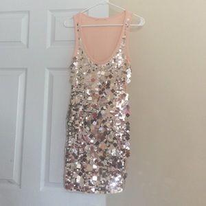 Dresses & Skirts - Beautiful embellished nude peach tank dress