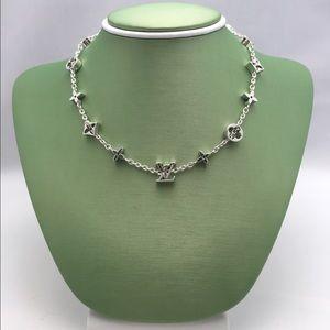 White Gold Tone Necklace