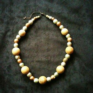 Vintage Wooden Bead Necklace