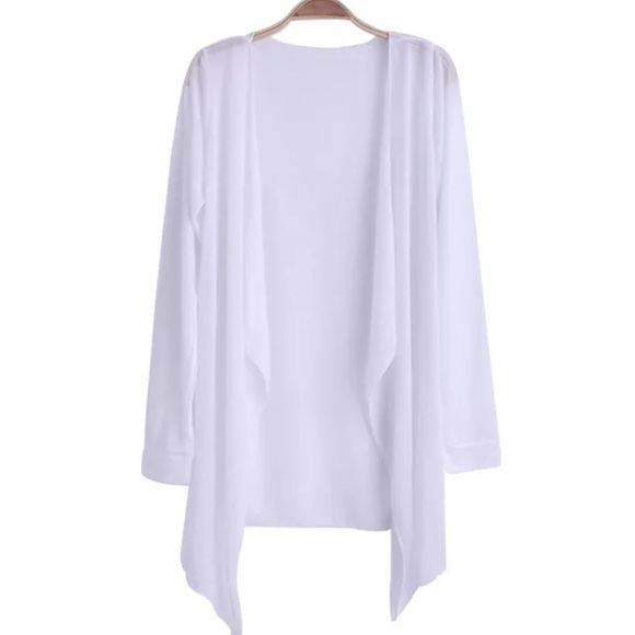 50% off Sweaters - White Waterfall Cardigan Sweater from Torri's ...