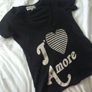 Wildfox J'? Amore tee size XS