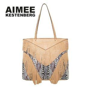 Aimee Kestenberg Geneva Leather Fringe Tote Bag