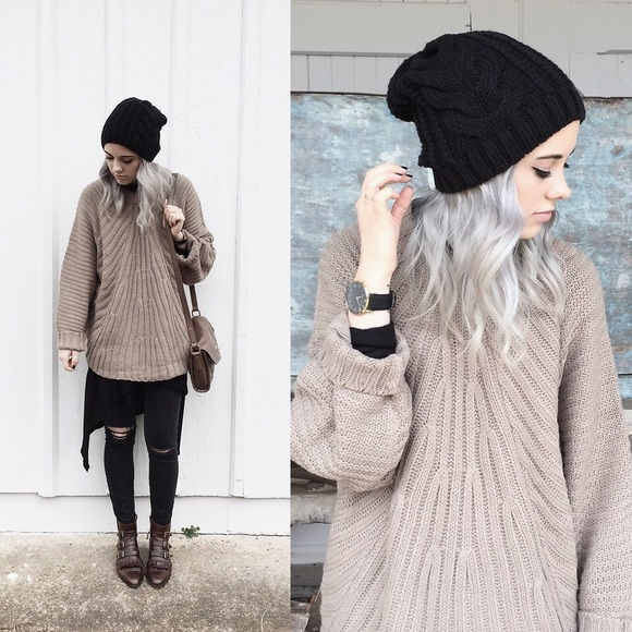 Brandy Melville - REHAB taupe oversized sweater from K's closet on ...