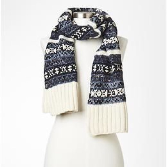 70% off GAP Accessories - Gap fair isle knit wool scarf from ...