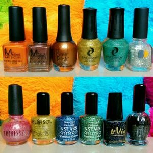 Misa Other - 12 Assorted Salon Nail Polishes Laquers Bundle
