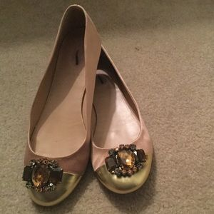 J.Crew Collection jeweled ballet flats.