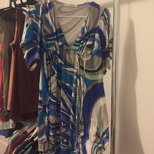EUC Blue boutique dress size S.