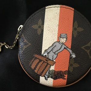 LV limited Edition key chain and coin wallet.