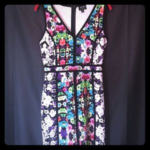 NWOT Floral Body con Dress