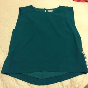 Belle sky Tops - Teal boxy top