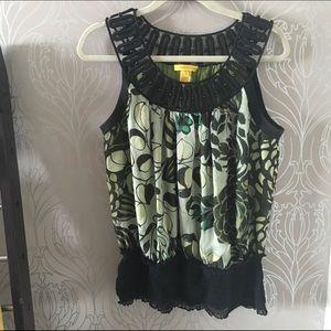 Catherine Malandrino Tops - Catherine Malandrino silk printed blouse