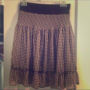 A line brown skirt