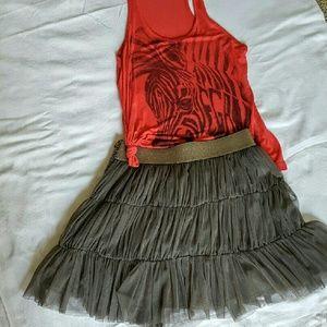 Adorable Gray Tulle Skirt