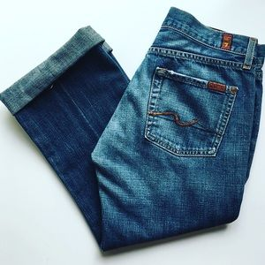 7 For All Mankind Cutoff Denim Capris