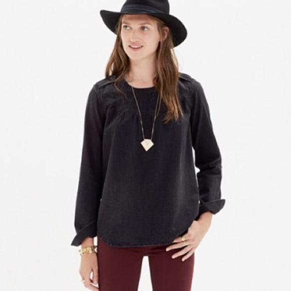 02239fd40c Madewell Tops - Black denim Madewell shirt
