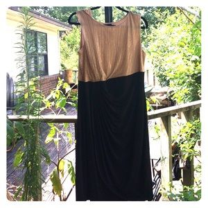 Enfocus Women Dresses & Skirts - Gold & Black Size 18W Cocktail Semi-Formal Dress