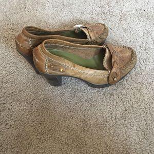 Jeffrey Campbell loafer platforms.