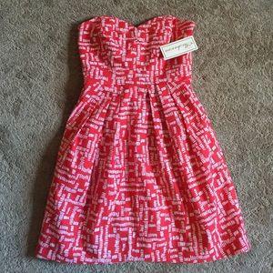NWT Shoshanna strapless dress with pockets size 0