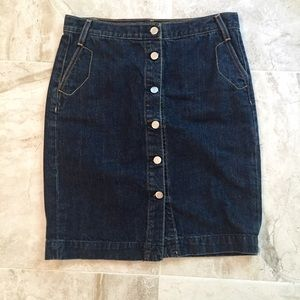 J. Crew Denim Pencil Skirt