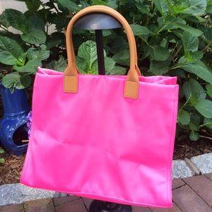 5c3cb49cd0d Tory Burch Bags | Tote Ella Neon Neoprene Pink | Poshmark