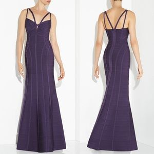 Herve Leger Dresses & Skirts - Hervé Léger Purple Adalia Cutout Mermaid Gown