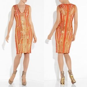 Herve Leger Dresses & Skirts - Herve Leger SAGE LACE-UP BEADED BANDAGE DRESS